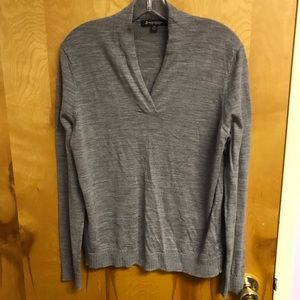 Brooks Brothers grey merino wool sweater sz XL